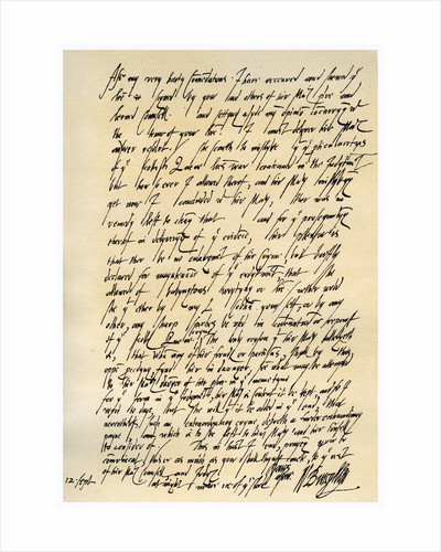 Letter from William Cecil to Sir Christopher Hatton by Sir William Cecil