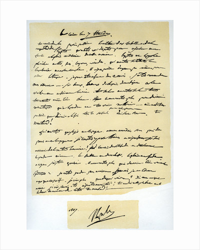 Letter from Napoleon Bonaparte to his brother Joseph by Napoleon Bonaparte I