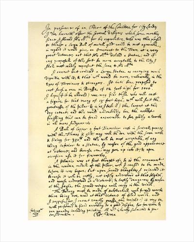 Report by Sir Christopher Wren by Sir Christopher Wren