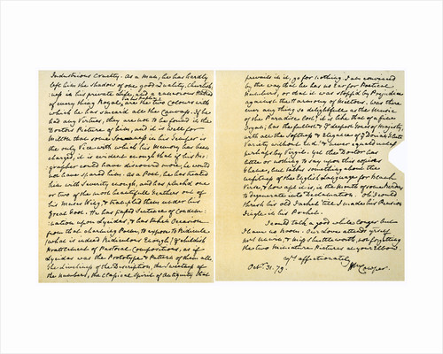Letter from William Cowper to William Unwin by William Cowper
