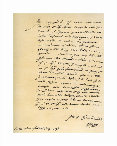 Letter from Robert Devereux, Earl of Essex, to William Cecil, 1st July 1596 by Robert Devereux
