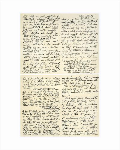 Letter from Elizabeth Barrett Browning to Henry F Chorley by Elizabeth Barrett