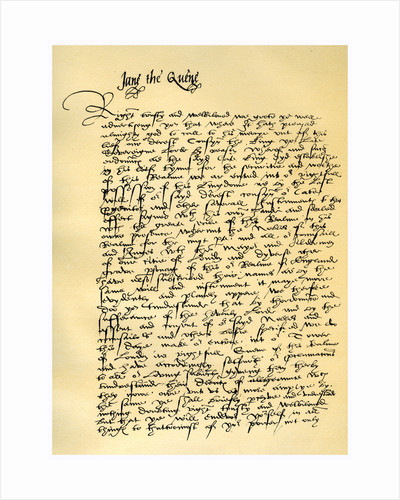 Letter from Lady Jane Grey to William Parr by Lady Jane Grey