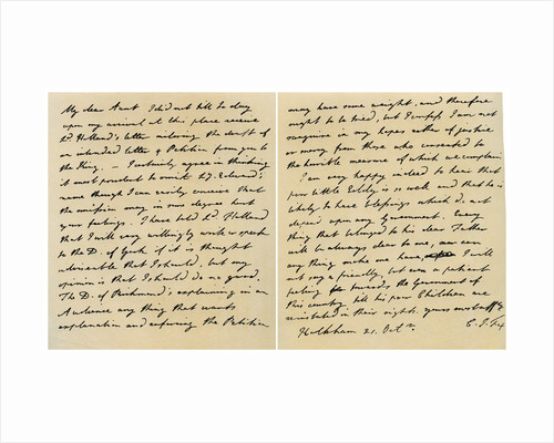 Letter from Charles James Fox to his Aunt Emily by Charles James Fox