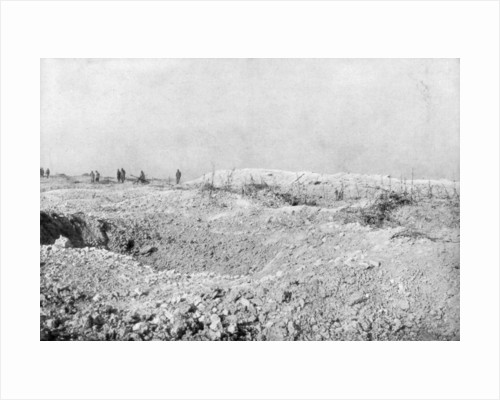 The landscape of Mort-Homme, Verdun, France, First World War by Anonymous
