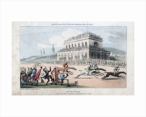 Dr Syntax Loses his Money at the Race Ground at York by Thomas Rowlandson