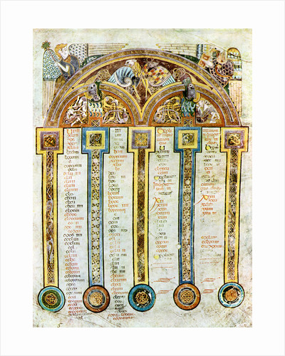 A Page of The Eusebian Canons, c800 AD by Anonymous