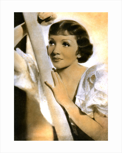 Claudette Colbert, French born American actress by Anonymous
