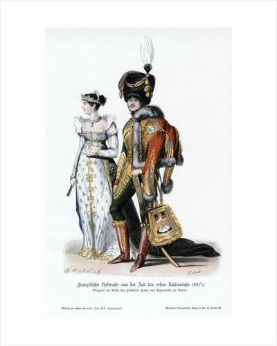French court dress of the time of the first Empire by Anonymous