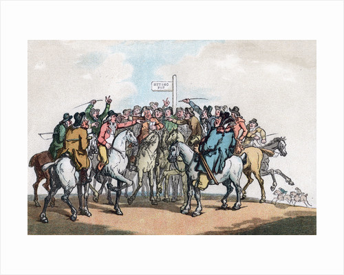 The Betting Post, Humours of Fox Hunting by Thomas Rowlandson