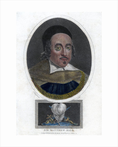 Sir Matthew Hale, 17th century Lord Chief Justice of England by J Chapman