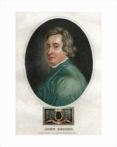 John Dryden, 17th century English dramatist and Poet Laureate by J Chapman