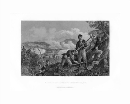 The Battle of Lookout Mountain, Tennessee, 24 November 1863 by John R Chapin