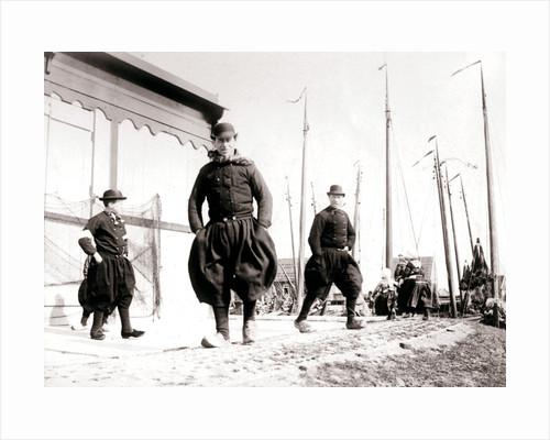 Men in traditional dress, Marken Island, Netherlands by James Batkin