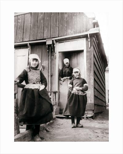 Girls in traditional dress, Marken Island, Netherlands by James Batkin