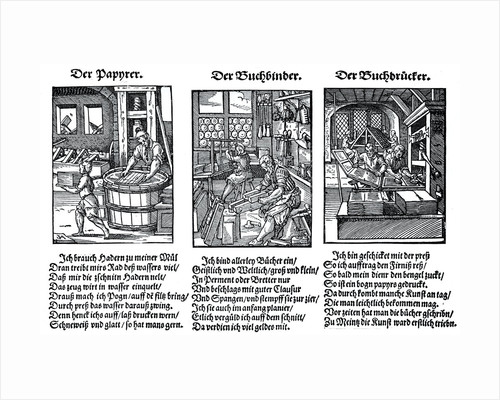 German book manufacture in the 16th century by Anonymous