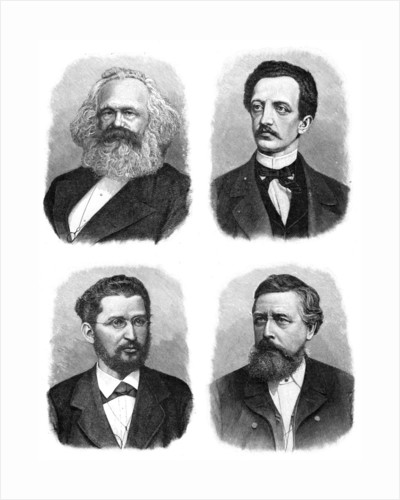 Four German socialists by Anonymous