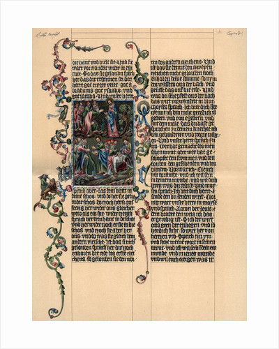 A page from the Wenzel Bible by Anonymous