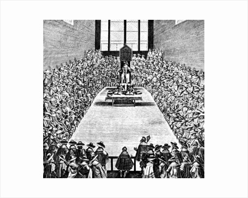 Parliament in Session in the Reign of James I, early 17th century, (c1902-1905) by Anonymous