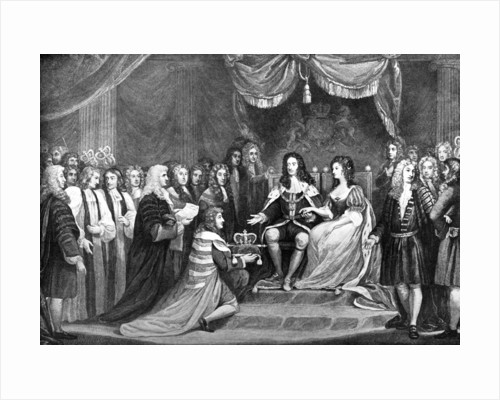 Parliament Offering the Crown to William and Mary by Anonymous