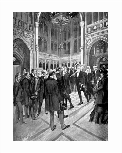 The Speaker's Procession, House of Commons, Palace of Westminster, London by Anonymous