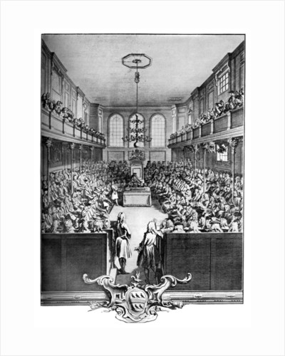 Interior of the House of Commons, Westminster, London by John Pine