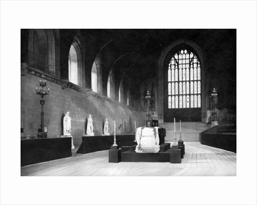 The lying in state of William Gladstone, Westminster Hall, London by John Benjamin Stone