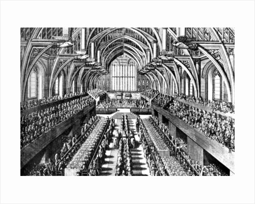 The coronation ceremony of James II in Westminster Hall, London by Anonymous