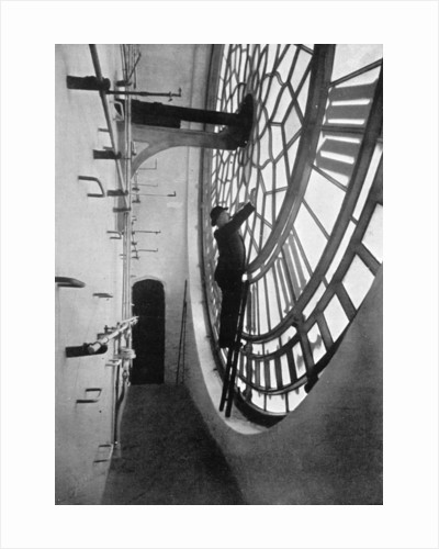 Inside the clock face of Big Ben, Palace of Westminster, London by Anonymous