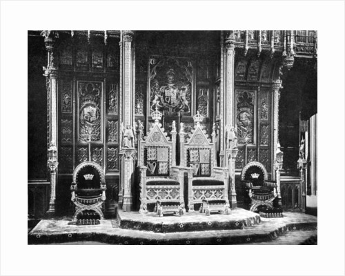 The Royal Throne, House of Lords, Westminster by John Benjamin Stone