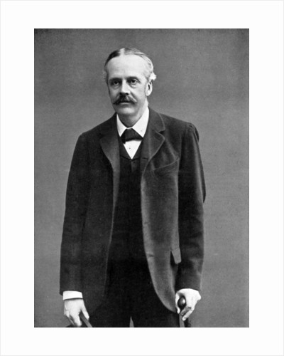 Arthur James Balfour, 1st Earl of Balfour, British statesman and Prime Minister by London Stereoscopic & Photographic Co