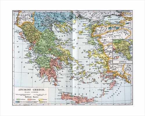 Map of Ancient Greece by Anonymous