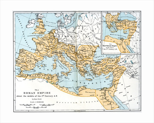 Map of the Roman Empire, 2nd century AD by Anonymous