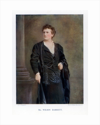 Wilson Barrett, English actor, manager, and playwright by W&D Downey
