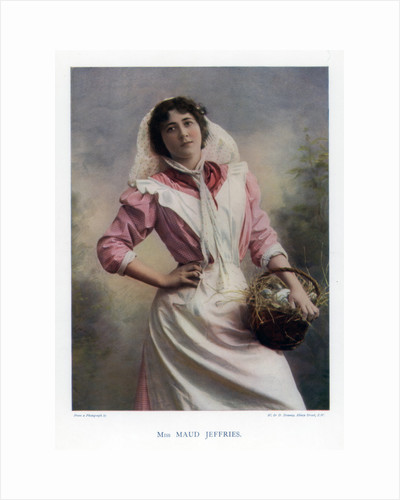 Maud Jeffries,  American actress by W&D Downey