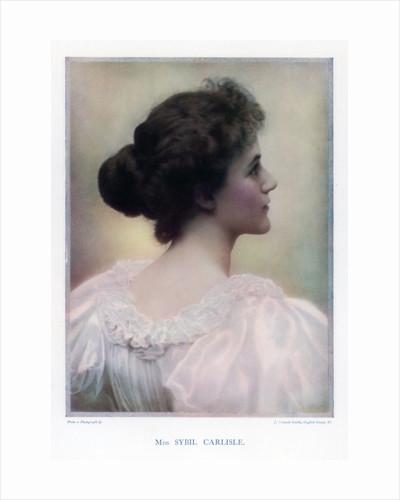 Sybil Carlisle, actress by J Caswall Smith