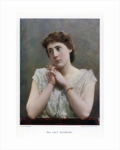 Lily Hanbury, English stage actress by W&D Downey