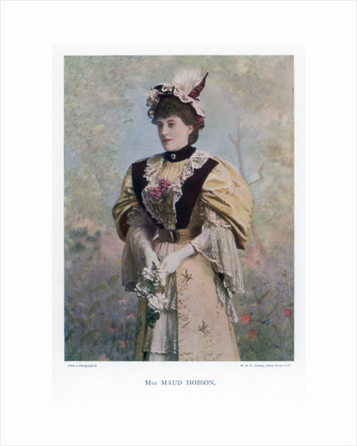 Maud Hobson, actress by W&D Downey