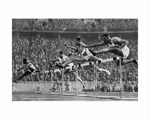 Forrest Towns, American Olympic champion in the 110 metres hurdles by Anonymous