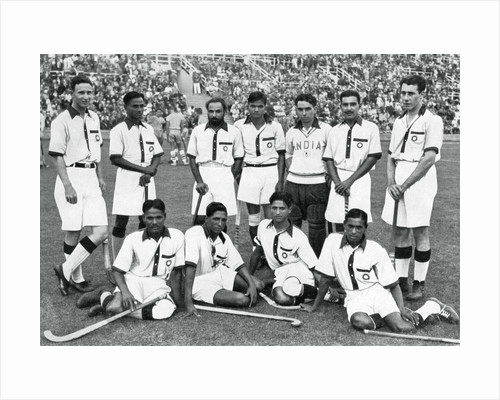 The Indian hockey team, gold medal winners, Berlin Olympics by Anonymous