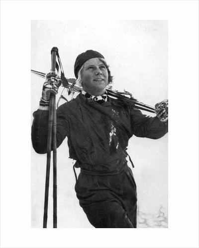 Laila Schou-Nilsen, Norwegian skier, Winter Olympic Games, Garmisch-Partenkirchen, Germany by Anonymous