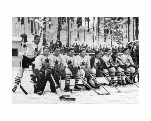 Canadian ice hockey team, Winter Olympic Games, Garmisch-Partenkirchen, Germany by Anonymous