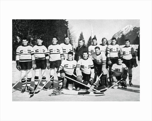 Great Britain ice hockey team, Winter Olympic Games, Garmisch-Partenkirchen, Germany by Anonymous