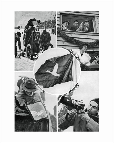 The media in action, Winter Olympic Games, Garmisch-Partenkirchen, Germany by Anonymous