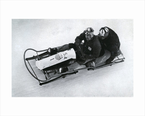 American two man bobsleigh team, German winter olympic games by Anonymous