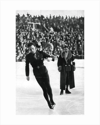 Karl Schäfer, Austrian figure skater, Winter Olympic Games, Garmisch-Partenkirchen, Germany by Anonymous