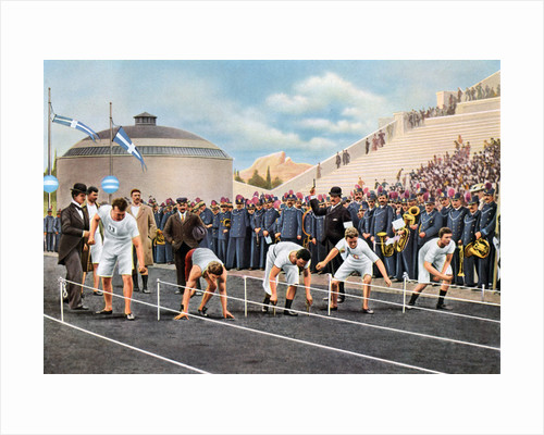 100 metres sprint race at the Olympic Games, Athens by Anonymous