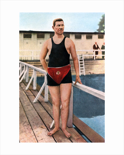 Emil Rausch, Geman swimmer, Olympic Games, St Louis, USA by Anonymous