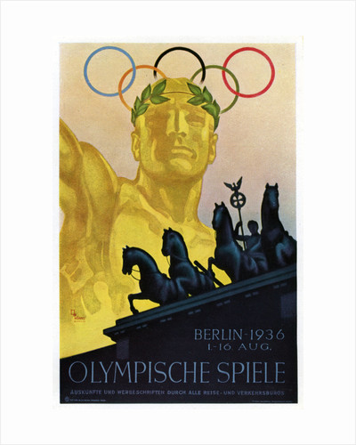Poster for the 1936 Olympic Games, Berlin by Anonymous
