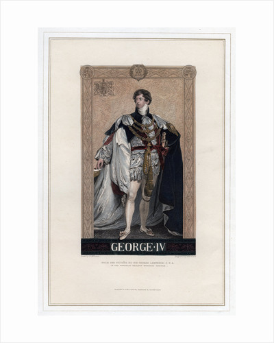 George IV, King of Great Britain and Ireland by A Krausse